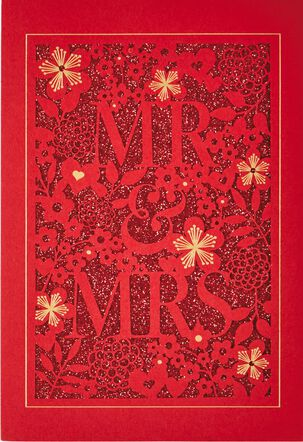 Mr & Mrs Chinese-Language Wedding Card