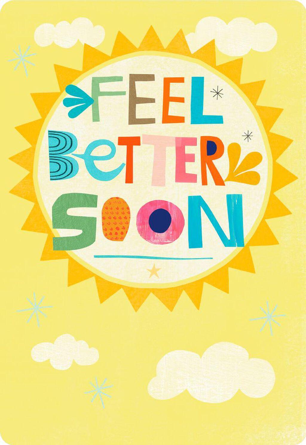 Feel Better Soon Sun Jumbo Get Well Card 1625 Greeting Cards