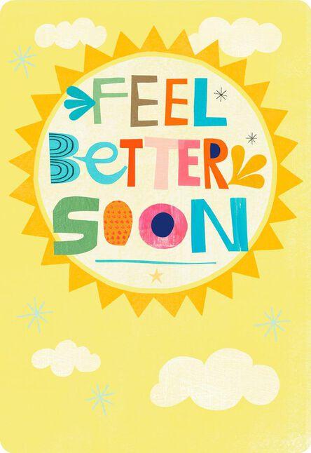 feel better soon sun jumbo get well card 16 25 greeting cards