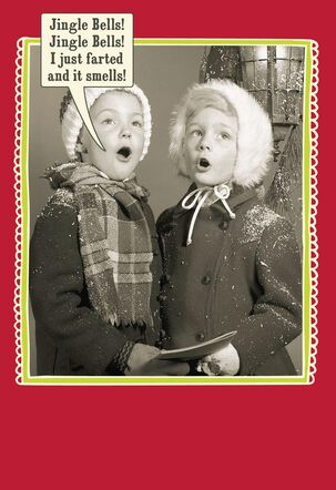 Who Farted Funny Christmas Card