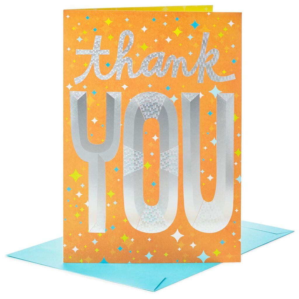 Big Thanks To You Jumbo Thank You Card 16 Greeting Cards Hallmark