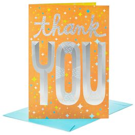 "Big Thanks to You Jumbo Thank You Card, 16"", , large"