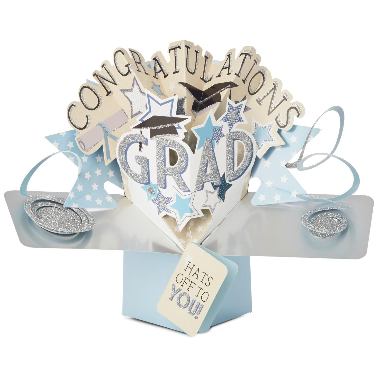 Hats Off to You Pop-Up Card for Him - Greeting Cards - Hallmark