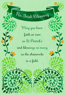 Faith and Blessings St. Patrick's Day Card,