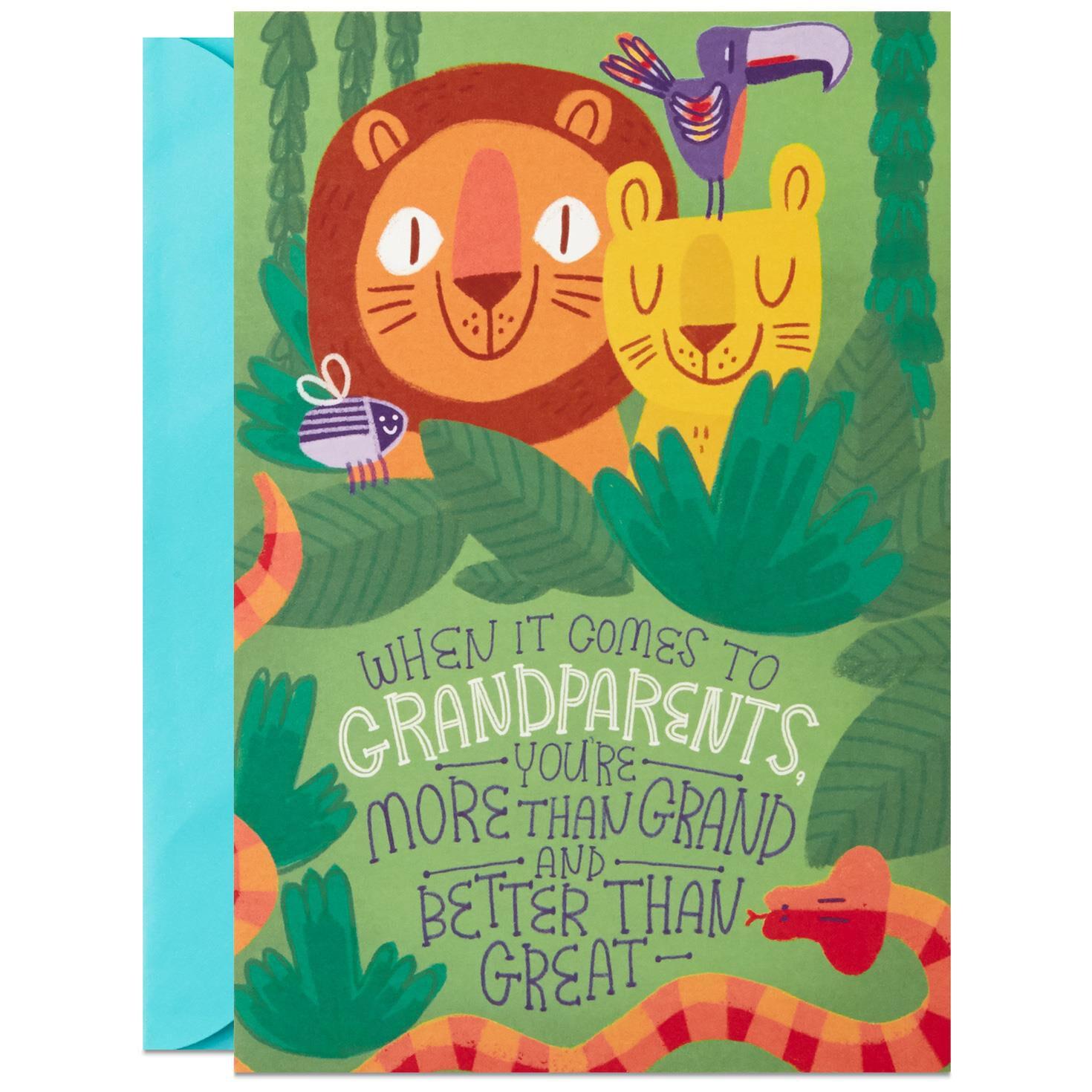 Jungle Animals Grandparents Day Card Greeting Cards Hallmark