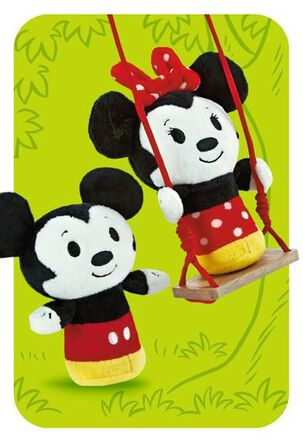 Mickey and Minnie Mouse itty bittys® Greetings Just Because Card