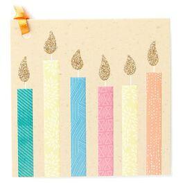 Birthday Candles Gift Tag With Ribbon, , large