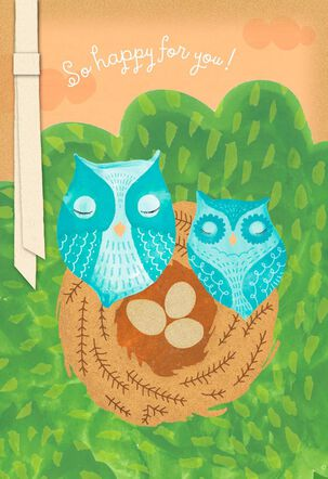 Owls New Baby Congratulations Card