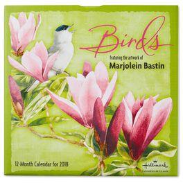 Marjolein Bastin Birds 2018 Wall Calendar, 12-Month, , large