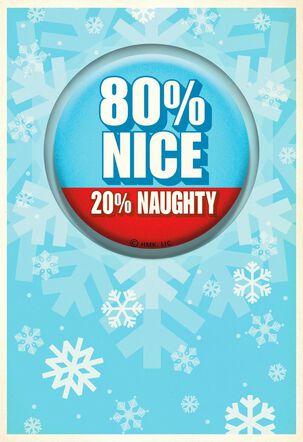 Naughty and Nice Christmas Card