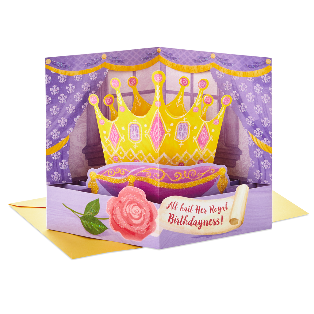 Her Royal Birthdayness Crown Pop Up Birthday Card