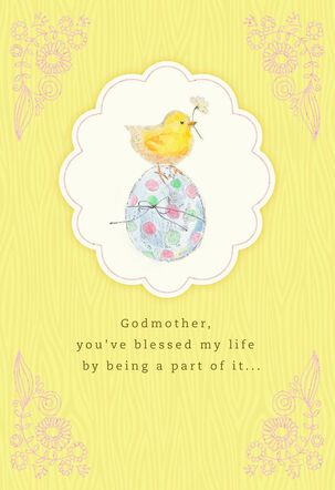 You've Blessed My Life Easter Card for Godmother