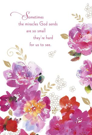 God's Miracles Religious Encouragement Card