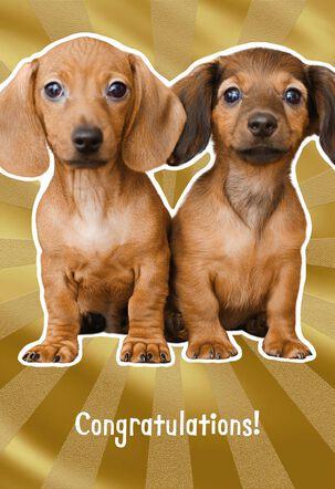 Wiener Dog Wedding Card