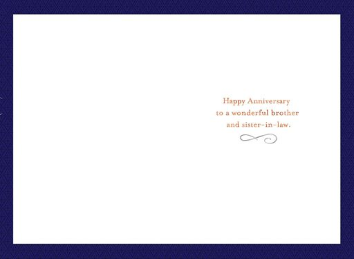 Foil Letters Anniversary Card for Brother and Sister-in-Law,