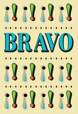 ¡Bravo! Spanish-Language Congratulations Card