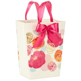 "Pink and Gold Floral Mother's Day Medium Gift Bag, 9.5"", , large"