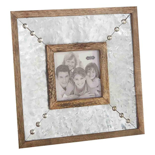 mud pie hammered tin stud 4x4 picture frame - Mud Pie Picture Frames