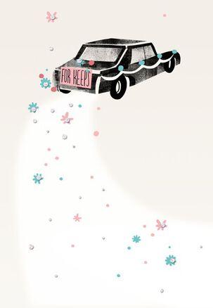 Limousine For Keeps Wedding Card