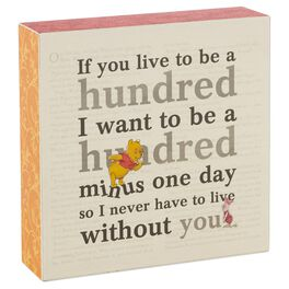 Hundred Minus One Day Wood Sign, , large