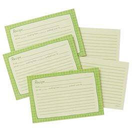 Whimsical Green Recipe Refill Cards, , large