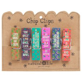 Natural Life Food Fun Chip Clips—Set of 6, , large