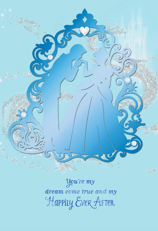 Cinderella My Dream Come True Anniversary Card - Greeting Cards ...