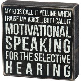 Primitives by Kathy Raise My Voice Box Sign, , large