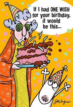 One Wish Funny Birthday Card