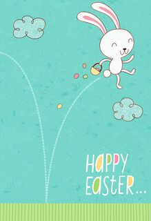 Energetic Bunny Easter Card for Godson,