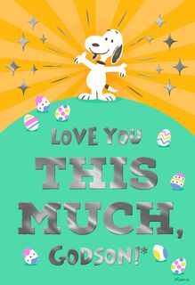 Peanuts® Snoopy Love You This Much, Godson Easter Card,