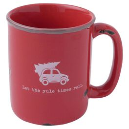 Let The Yule Times Roll Holiday Mug, , large
