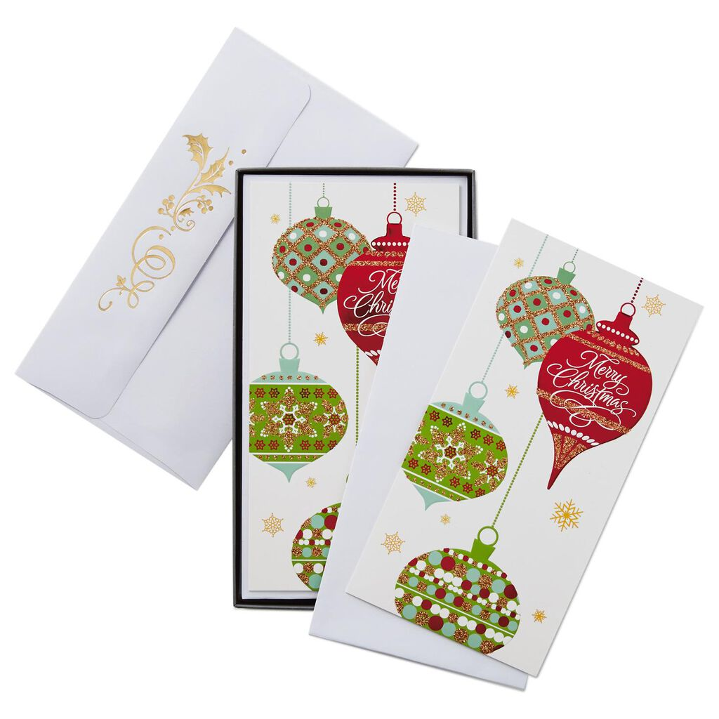 Dangling Ornaments Christmas Cards, Box of 16 - Boxed Cards - Hallmark