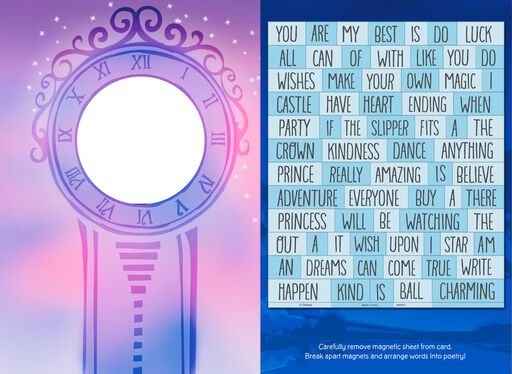 Disney Cinderella You See the Good in Life Card With Magnetic Poetry Words,