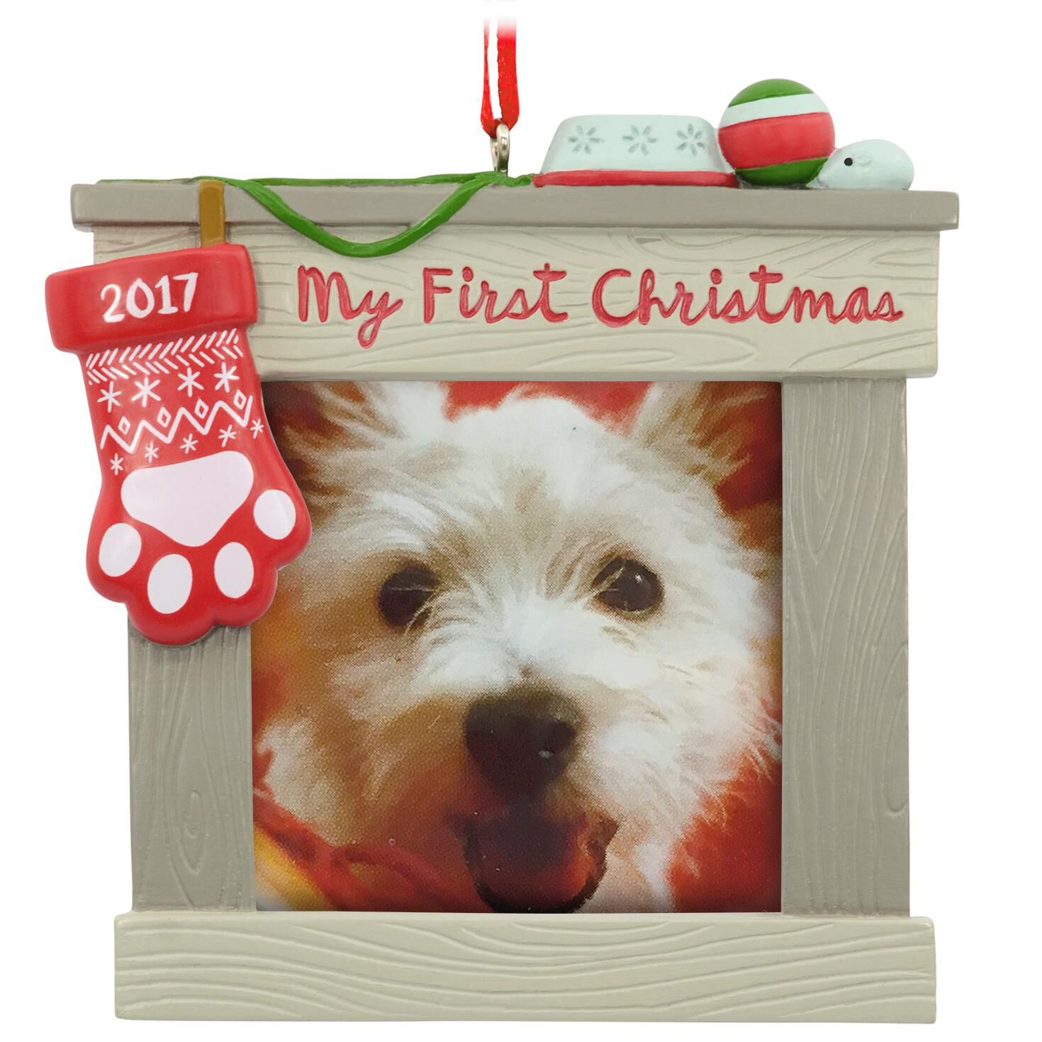 Dogs First Christmas Ornament.Pet S First Christmas 2017 Picture Frame Hallmark Ornament