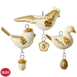 12 Little Days of Christmas: Set of Days 4-6 Mini Porcelain Ornaments, , large