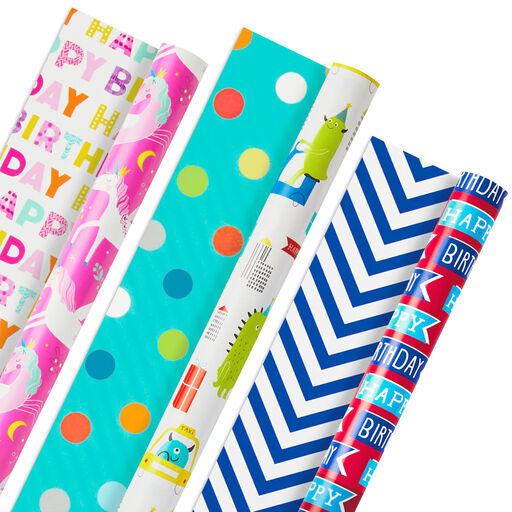 set of 10 sheets Love themed wrapping paper