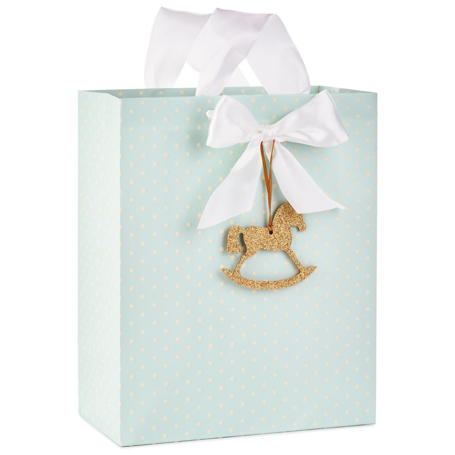 Rocking Horse on Blue Large Gift Bag, 13\