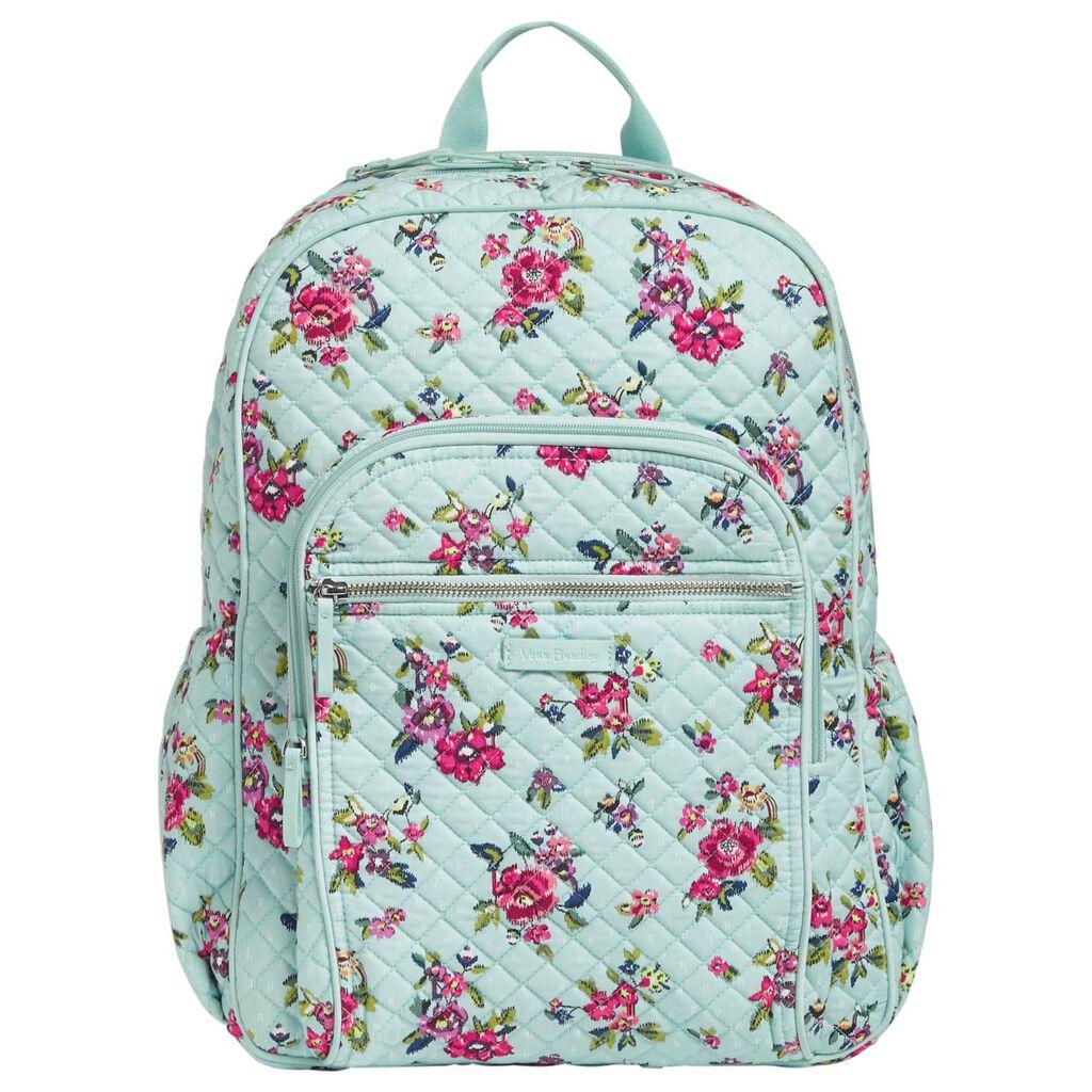 Vera Bradley Iconic Campus Backpack in Water Bouquet - Handbags ...
