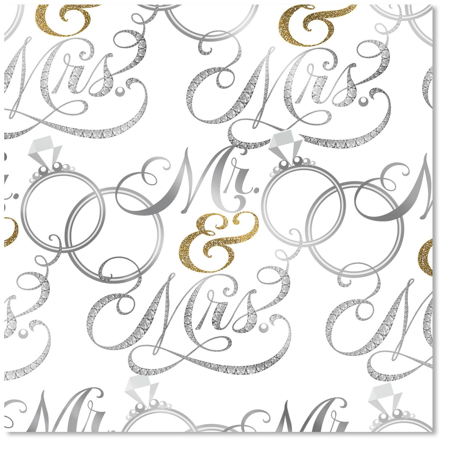 Mr Amp Mrs Wedding Wrapping Paper Wrapping Paper Hallmark