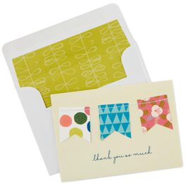 Sewn Flags Thank You Notes, Box of 8, , large