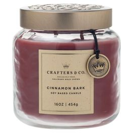 Crafters & Co. Cinnamon Bark 16-oz Candle, , large