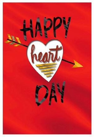 Heart Peek Valentine's Day Card