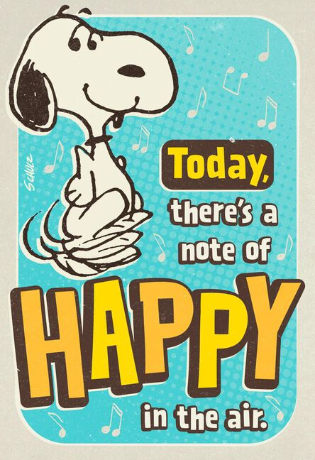 PeanutsR Snoopy Happy Dance Musical Birthday Card