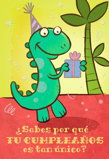Theres Nobody Like You Spanish Language Birthday Card For Child