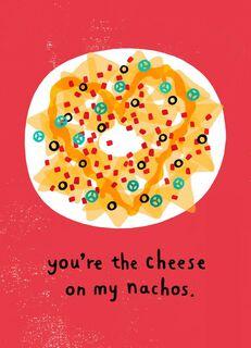 Nacho Cheese Valentine's Day Card,
