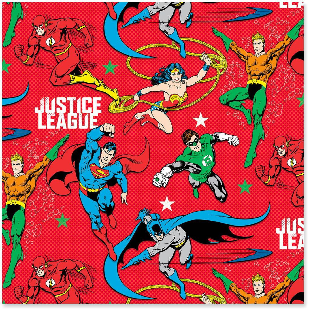 Justice League™ Jumbo Christmas Wrapping Paper Roll, 80 sq. ft. - Wrapping Paper - Hallmark