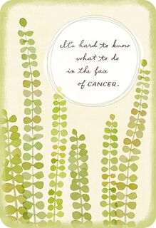 In the Face of Cancer Support Card,