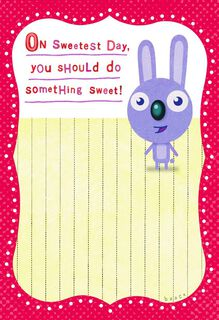 Do Something Funny Sweetest Day Card,