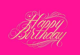 Raul Alejandro Lettering Birthday Card